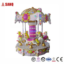 Children play game in park 6 Seats Amusement Carousel for sale