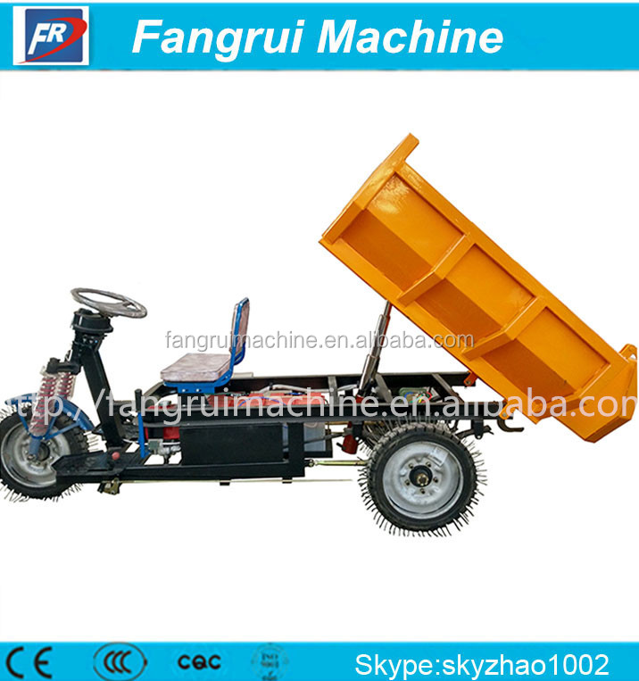 hydraulic pump electric tipper tricycle for cargo three wheel mini dump truck