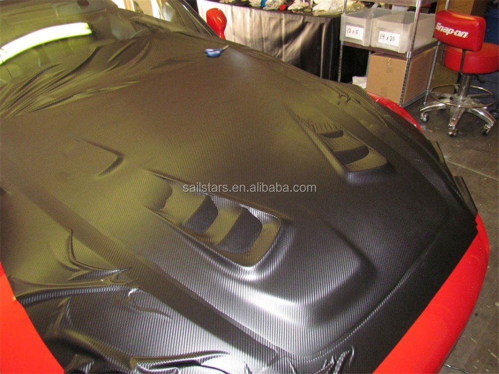 Black 3D Carbon Fiber Vinyl Bubble Free 1.52m*30m