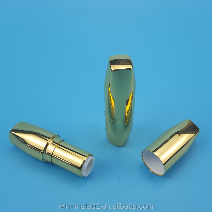 UV gold color aluminum lip stick container