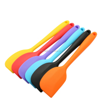 Promotional small size multicolor silicone cookie kitchen silicone heat resistant spatula