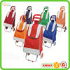 Shopping cart foldable shopping trolley bag with six wheel