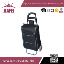 alibaba china market 600D oxford cloth with two eva wheels shopping bag on wheels
