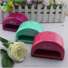 Nail Art 2015 New Hot 110V-240V Voltage Green LED UV Gel Nail Dryer Mini 6W UV LED lamp
