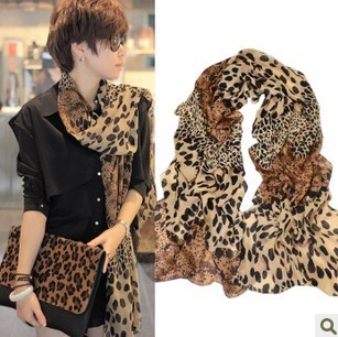WW16 2016 Print Leopard Scarf Women Long New Fashion Scarves and Shawls Pashmina Stoles Hijab