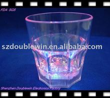 led flashing whiskey cup disposable plastic multi color beverage cup