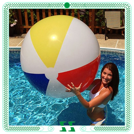 Swimming pve sustom beach ball with logo printing