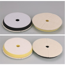 Japan Style Small Hole Wool Buffing Pad for car detailing Hook and Loop