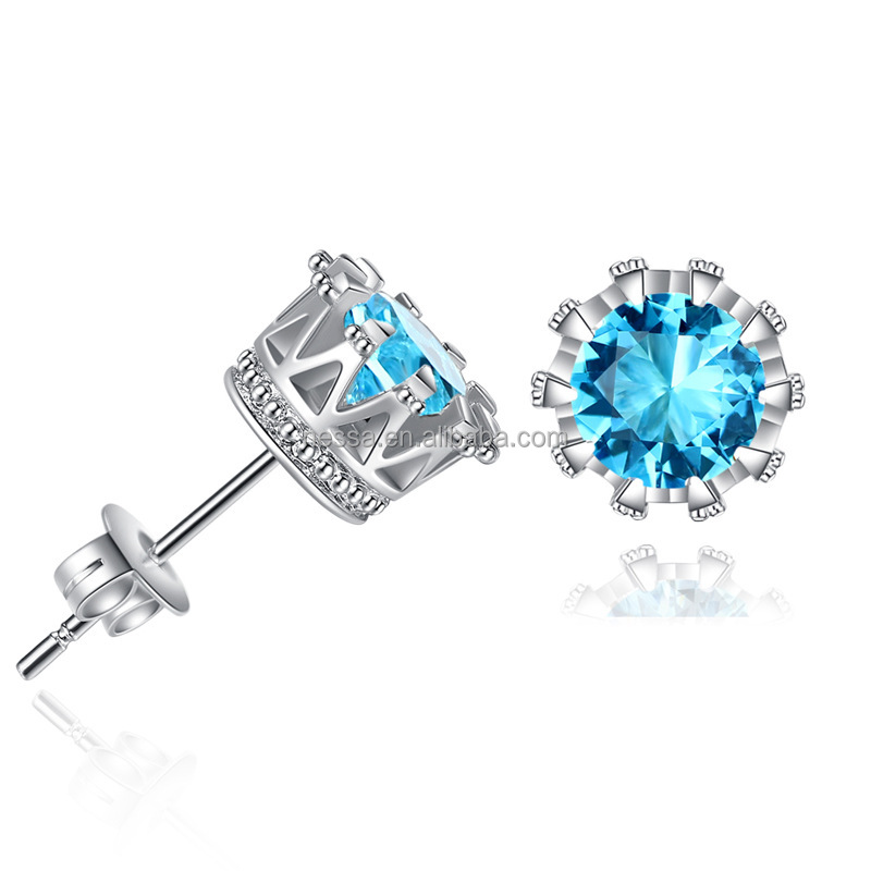 Fashion colorful diamond Stud Earring wholesale market MM-0001