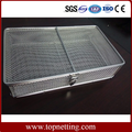 Stainless steel wire mesh basket with lid