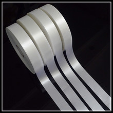 Wholesale custom pure silk ribbon satin, singel side polyester satin ribbon