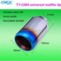 Factory direct sale universal car parts high performance exhaust muffler tip