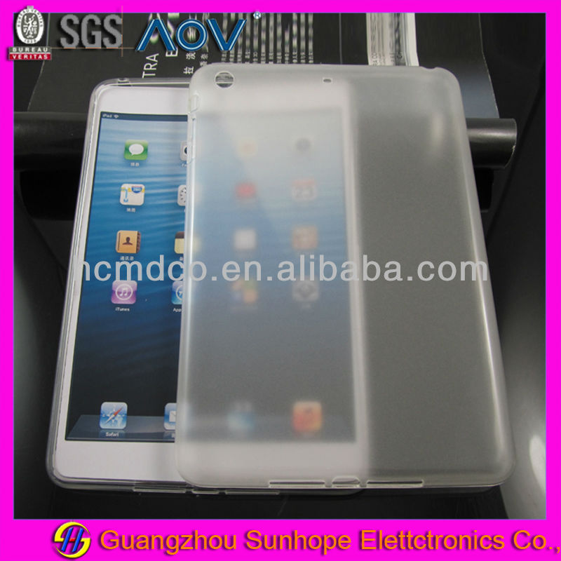 soft gel back cover for ipad mini retina glossy design