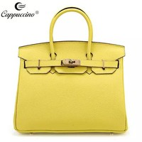 Famous Luxury Brand Designer Handbag Top grian Genuine Leather Women tote Bag