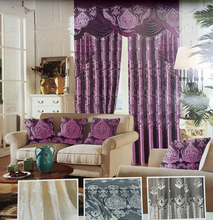 Home collection plain color velvet curtain and valance for Dubai curtains