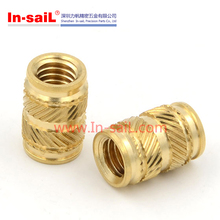 M2.5 brass insert,Heat Staking Threaded Brass Insert Nut for Plastic