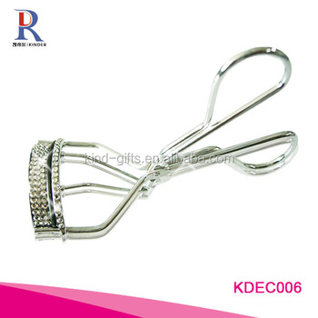 Fresh clear style shining bling rhinestone perfect magic design stainless steel eyelash curler