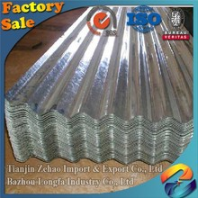 Hot Dipped Galvanized Corrugated Iron Sheet/22 gauge zinc coated steel roofing sheets
