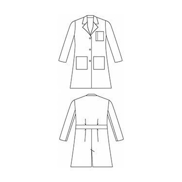 New technology meets new style Long Sleeve Doctor Coat Hospital lab coat