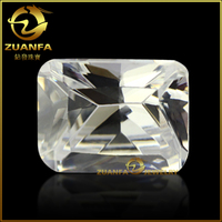 crystal glass gemstone white color clear glass stones