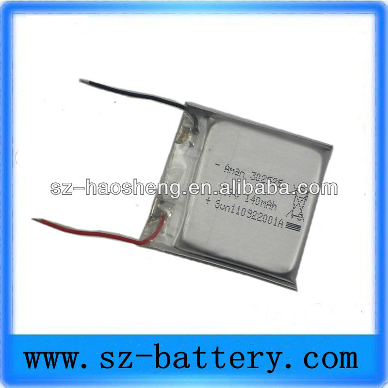 140mah e-cigarette polymer battery 3.7v lipo battery wholesale china