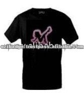 Pink Lady Short Sleeve LED O-Neck T-Shirt