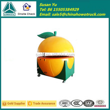 Mobile Orange Juice Bar Kiosk Design 4 Wheels Fruit Kiosk for Sale