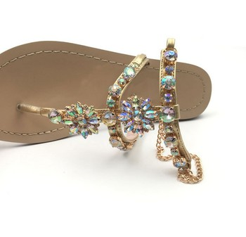 X84062B Latest Design Cork Gold Glitter Sandals For Women and ladies shoes