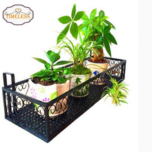 2018 Factory Directly Wall Hanging Black Metal Plant Floating Shelves,Flower Rack Display,Caddy Flower Pot Planter Rack