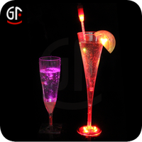 Party Decoration/wedding decoration Free Sample Led Flashing cheap Colored glass goblets