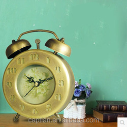 vintage french arm bank paper antique table alarm clock