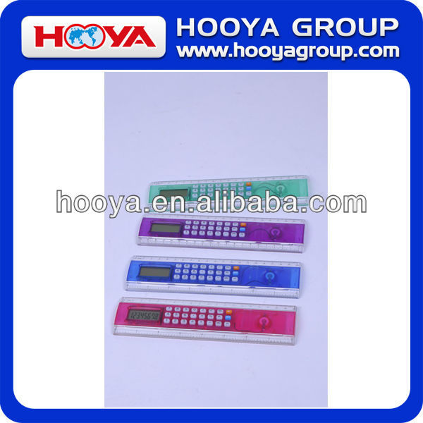 Promotional colourful gift calculator with ruler function