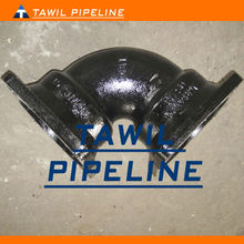 tawil taiyuan ductile cast iron double socket flange bend 90 degree pipe fittings
