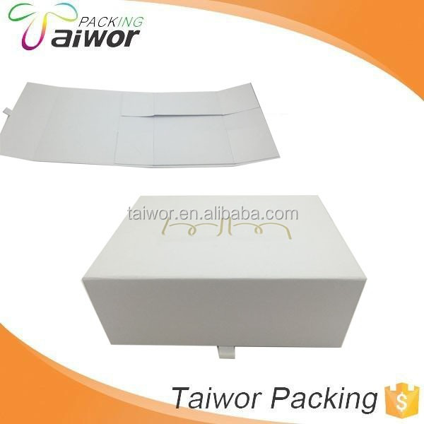 Custom color foldable storage box matt lamination foldable hat box