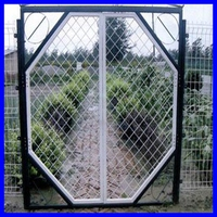 High quality PVC Coated Wire Mesh Fence Gate/Double Swing Gate made in China