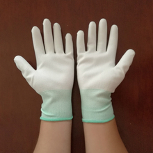 Protective EN388 Best Fit PU Top Fit Gloves,Safety Hand Protection PU Finger Dipped Gloves From Factory