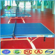 High quality wood pattern table tennis court homogeneous pvc floor