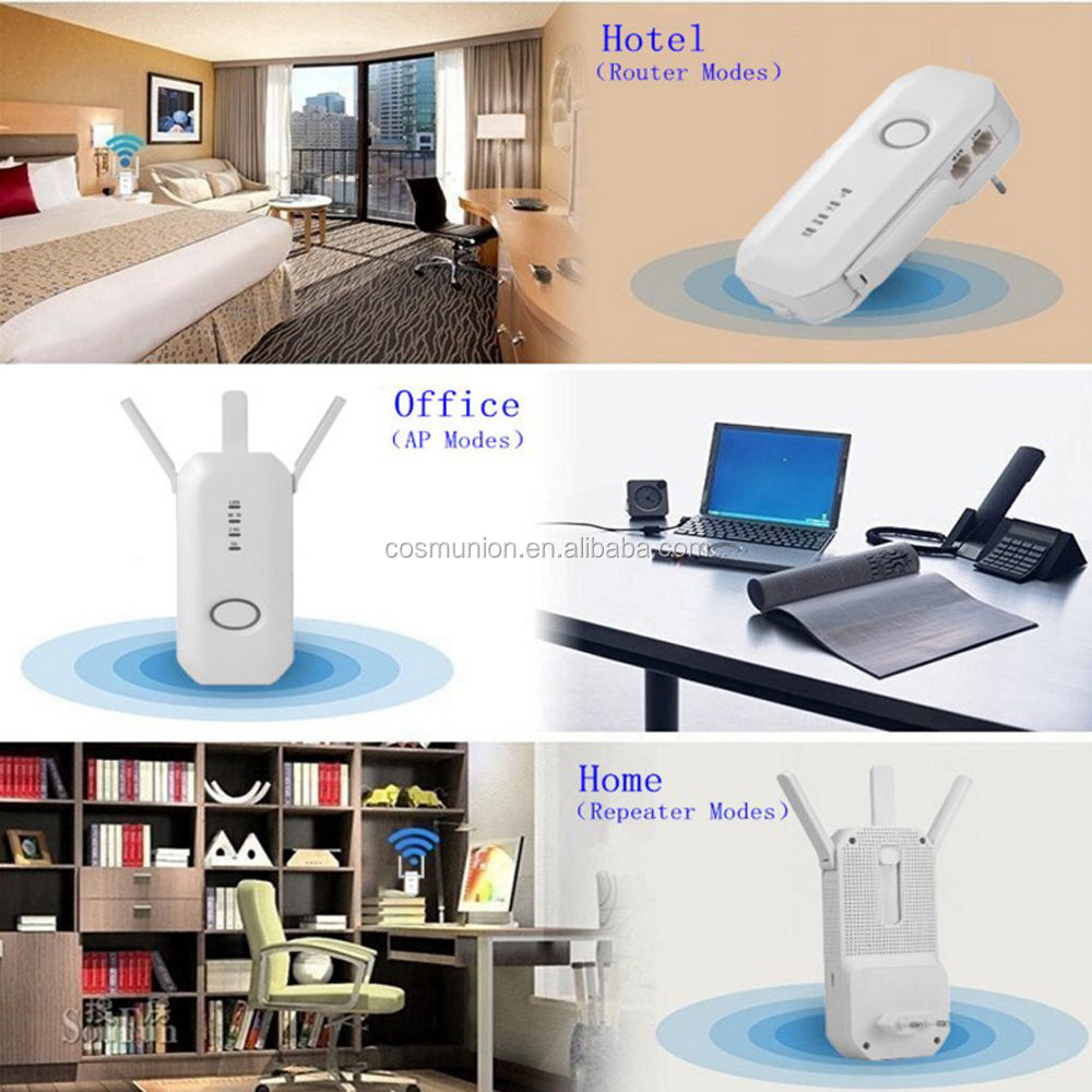 high speed repeater wifi socket 300Mbps 750Mbps 2.4g 5g dual band