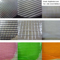 0.75mm transparent pvc mesh fabric for curtain