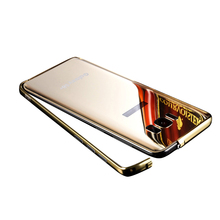 Ultra thin 2 in 1 metal bumper mirror back case for Samsung S8 edge plus