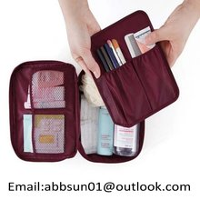Multifunction travel cosmetic bag makeup case zipper portable organizer storage wash bag handbag