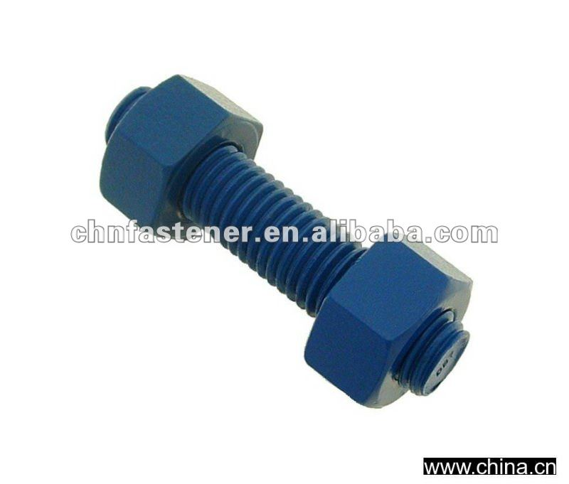 studs all threaded bolt B7 with two nut 2H