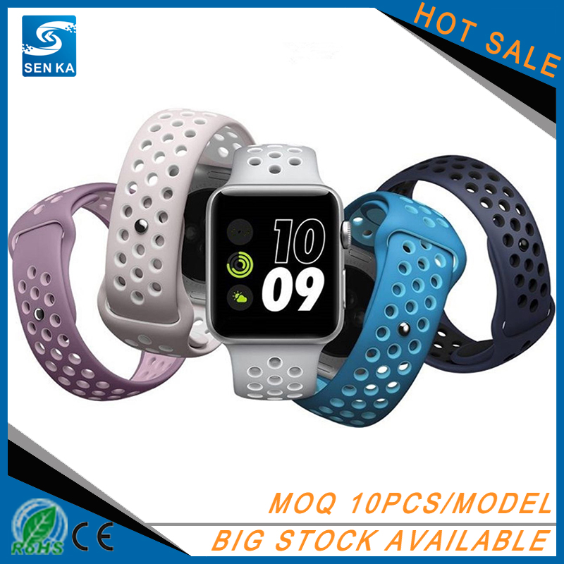 Wholesale Silicone Rubber Strap For Apple Watch NIKE Sport Band