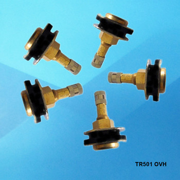 Metal clamp in valve tubeless tire valve tr501