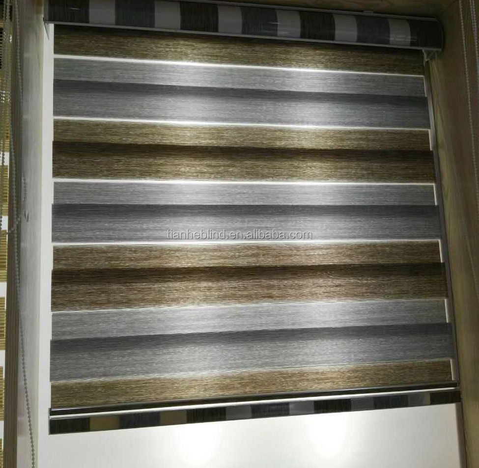 Professional Zebra Blind Curtain Manufacturer,Polyester Mix Gauze Best Quality Zebra Blind Fabric