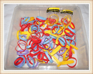 100 + Armband Lot Huge Rubber Bracelet Arm Band Silcone Wrist Band Silly Fun Kid