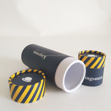 custom round paper tube package for t shirt/sunglasses