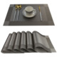 Free Shipping Luxury Placemats Gold Sliver Brown Color Place Mat Plastic Vinyl Woven Felt Table PVC Placemat Set