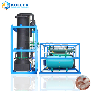Koller industrial 20 tons/day tube ice making machines with energy saving for Colombia