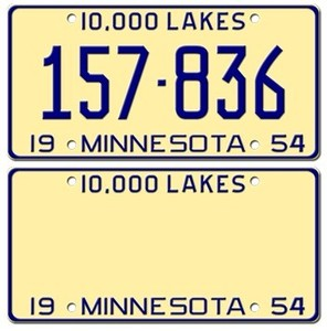 best quality custom American standard size aluminum license number plate
